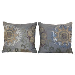 Pair of Hand Embroidered Vintage Suzani Pillows