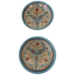 Pair of Hand Painted Moroccan Decorative Bowls