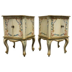 Pair of Hand Painted Venetian Cabinets