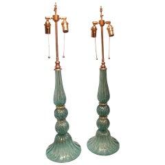 Pair of Handcrafted Venetian Lamps