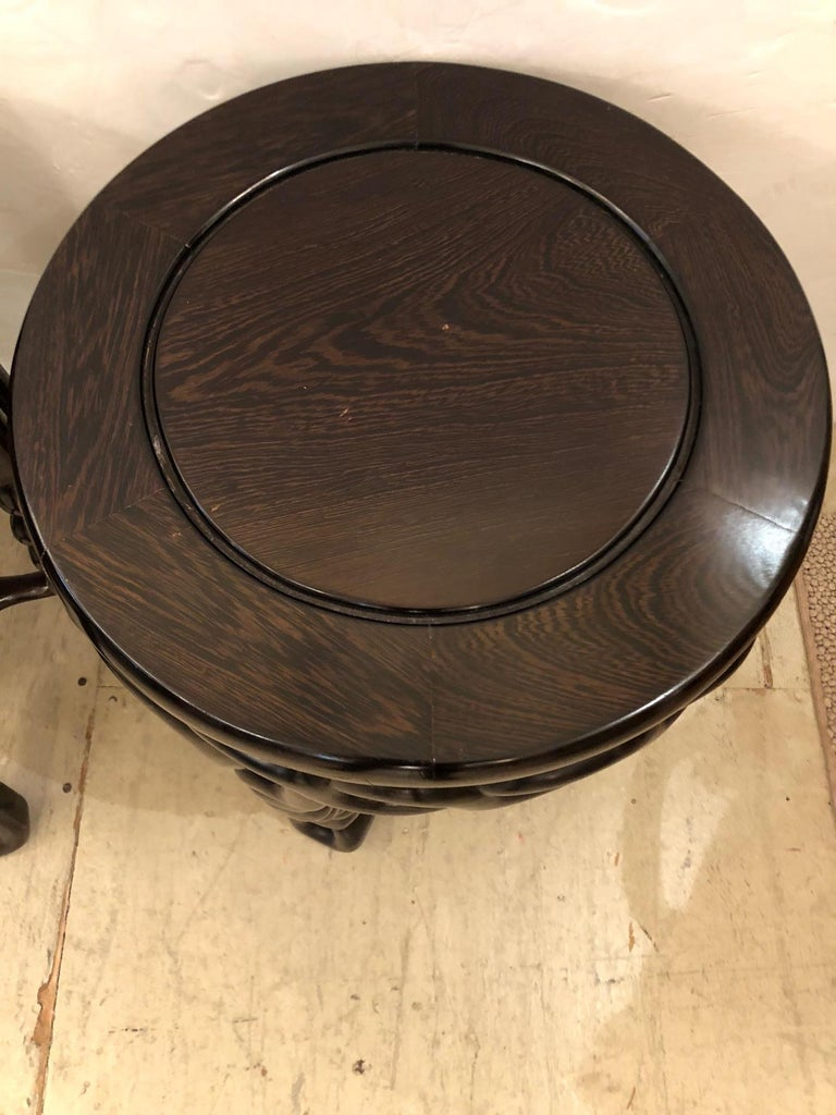 Ziricote Pair of Handsome Exotic Wood End Tables or Side Accent Tables For Sale