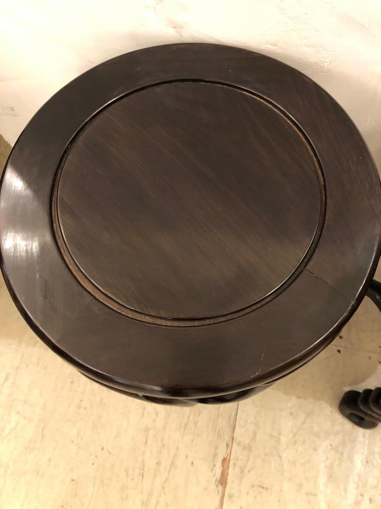Pair of Handsome Exotic Wood End Tables or Side Accent Tables For Sale 1