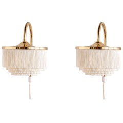 Pair of Hans-Agne Jakobsson Brass Wall Lights, Model V271, Sweden, 1960s
