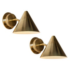 Pair of Hans-Agne Jakobsson 'Mini-Tratten' Polished Brass Outdoor Sconces