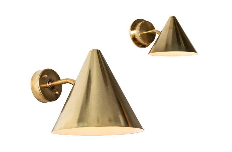 Pair of Hans-Agne Jakobsson 'Mini-Tratten' Polished Copper Outdoor Sconces For Sale 9