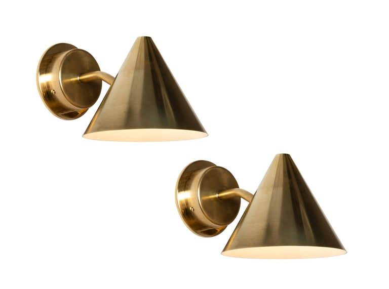 Pair of Hans-Agne Jakobsson 'Mini-Tratten' Polished Copper Outdoor Sconces For Sale 10