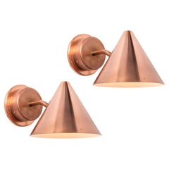 Pair of Hans-Agne Jakobsson 'Mini-Tratten' Polished Copper Outdoor Sconces