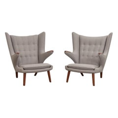 Pair of Hans J. Wegner AP-19 Papa Bear Chairs