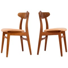 Pair of Hans J. Wegner CH30 Chairs, Denmark, 1960s
