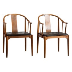 Pair of Hans J. Wegner Chinese Chairs in Cuban Mahogany