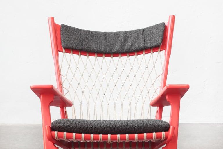20th Century Pair of Hans J. Wegner Flag Halyard Chair JH719 for Johannes Hansen Denmark 1968 For Sale