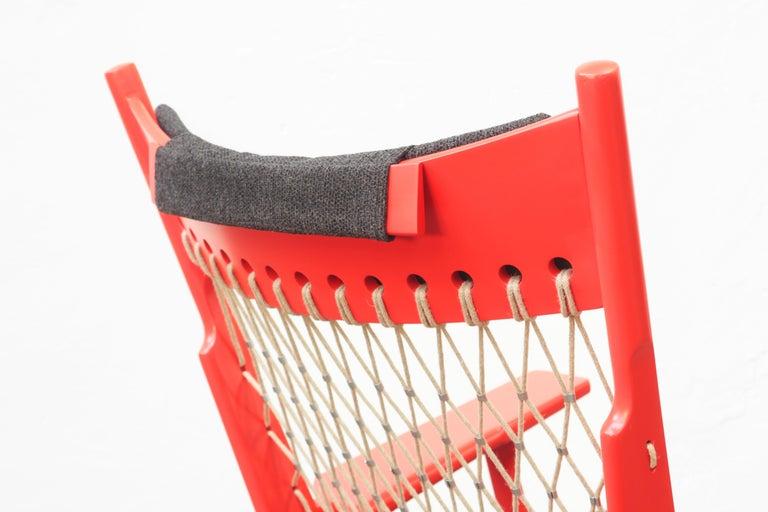 Wool Pair of Hans J. Wegner Flag Halyard Chair JH719 for Johannes Hansen Denmark 1968 For Sale