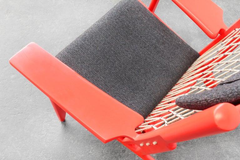 Pair of Hans J. Wegner Flag Halyard Chair JH719 for Johannes Hansen Denmark 1968 For Sale 3