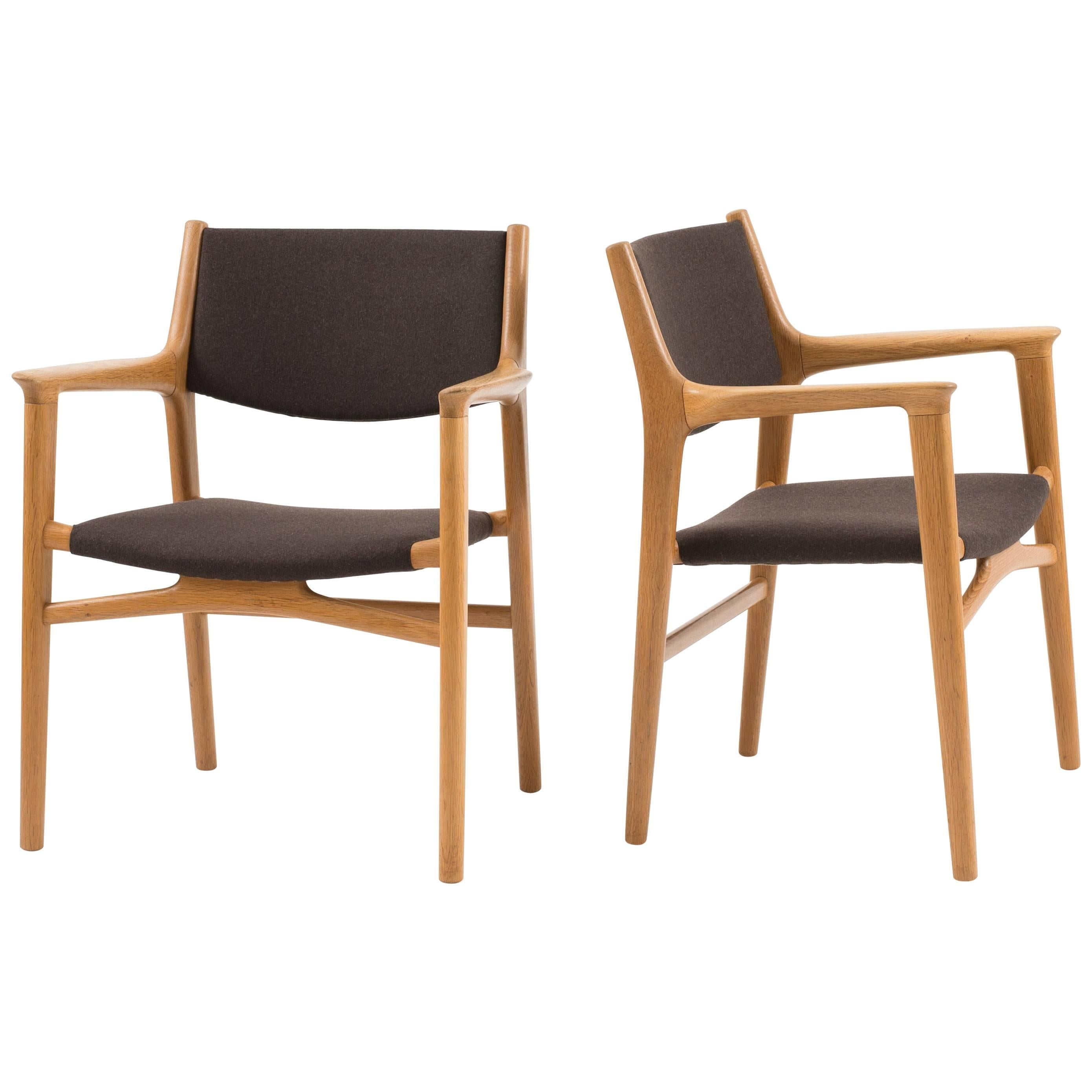 Pair of Hans J. Wegner JH-515 Armchairs for Johannes Hansen