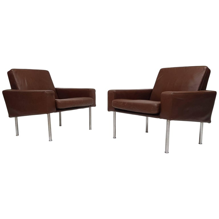 "Pair of Hans J. Wegner Model 34/1 ""Airport Chairs"", Denmark, 1957, A.P. Stolen For Sale"