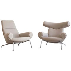 Pair of Hans J. Wegner Ox Chairs, Edition AP Stolen, 1960