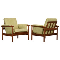 Pair of Teak Armchairs, 1950s