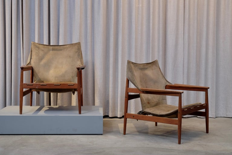 Pair of Hans Olsen Easy Chairs, 1960s For Sale 5