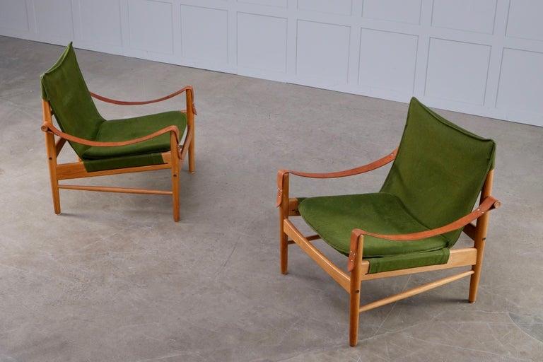 Scandinavian Modern Pair of Hans Olsen Easy Chairs, 1960s For Sale