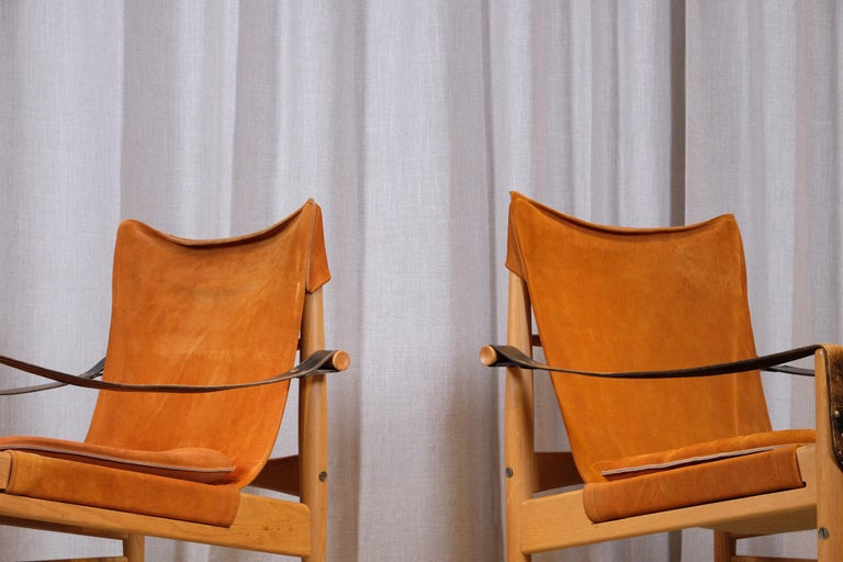 Swedish Pair of Hans Olsen Easy Chairs, 1960s For Sale