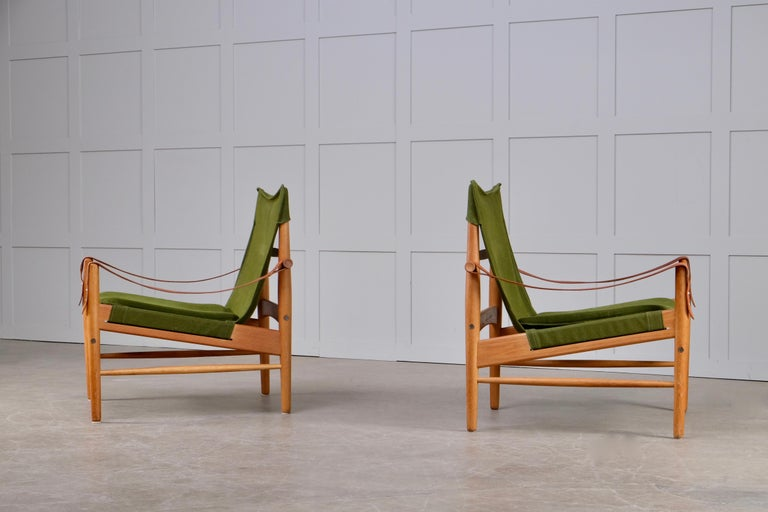 Pair of Hans Olsen Easy Chairs, 1960s In Good Condition For Sale In Stockholm, SE
