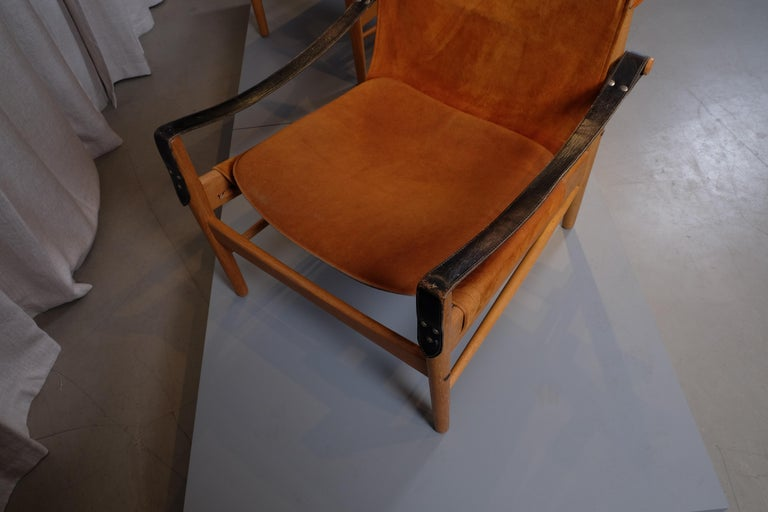 Pair of Hans Olsen Easy Chairs, 1960s For Sale 1