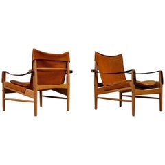Pair of Hans Olsen Easy Chairs, 1960s