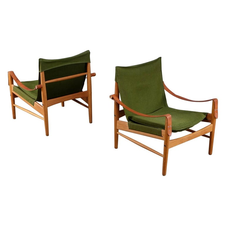 Pair of Hans Olsen Easy Chairs, 1960s For Sale