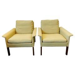 Pair of Hans Olsen Model 500 Lounge Chairs for C.S. Møbler, 1960s