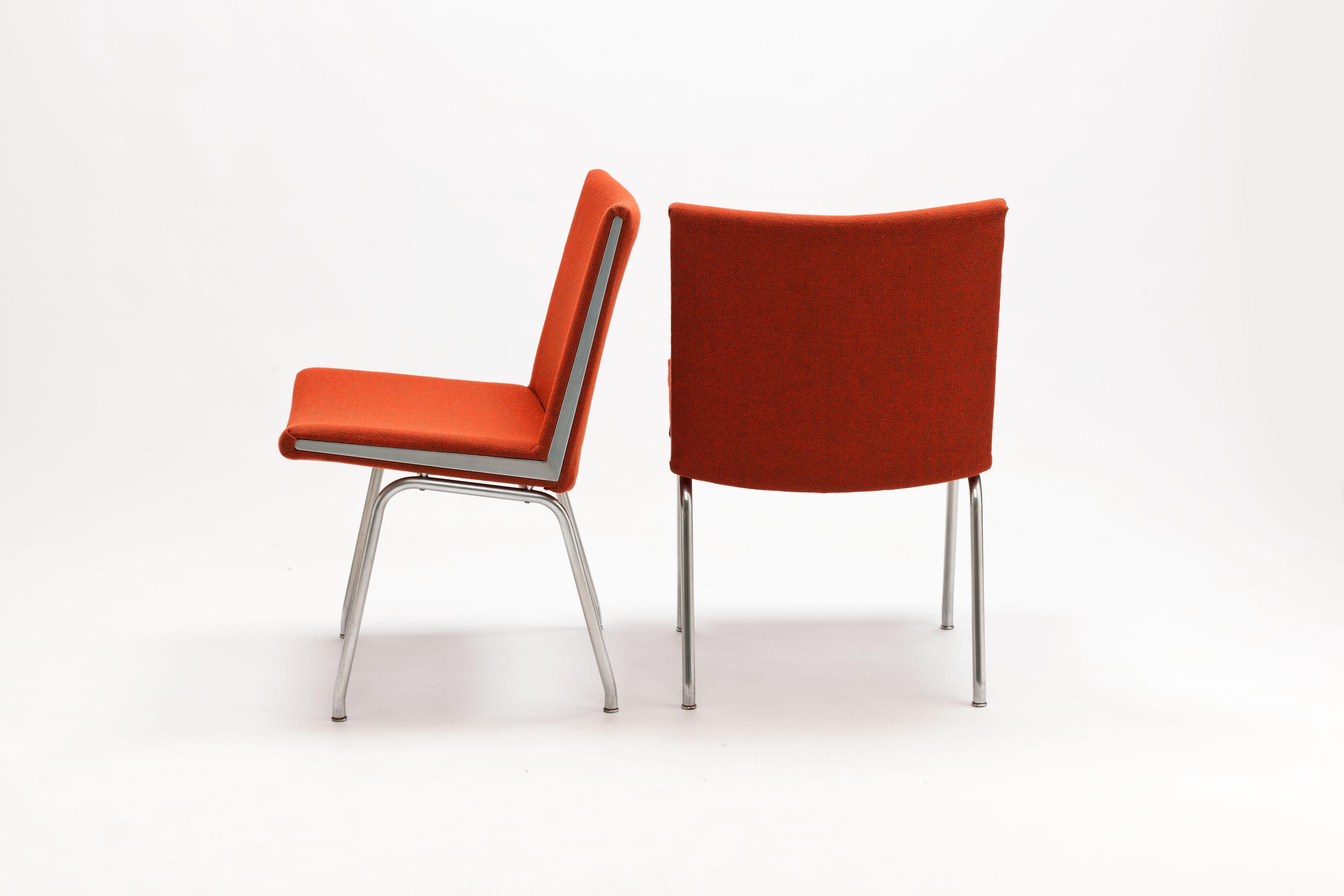 5x Designer Eetkamerstoelen : Pair of hans wegner ap37 airport chairs by a.p. stolen for sale at