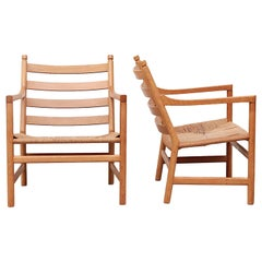 Pair of Hans Wegner CH44 Lounge Chairs for Carl Hansen & Son, Denmark