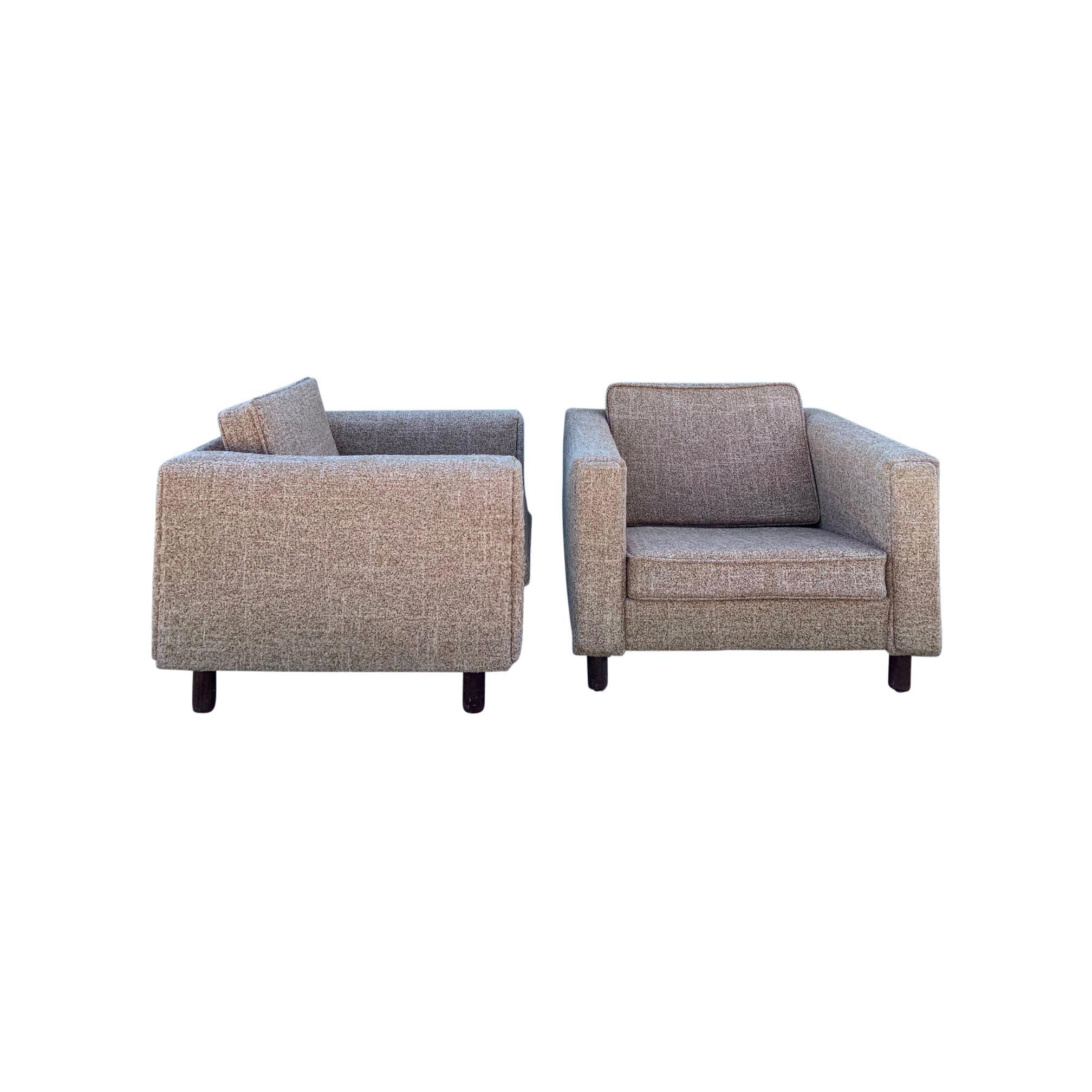 Pair of Hans Wegner Chairs GE 300 Easy Chairs for GETAMA