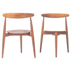 Pair of Hans Wegner for Fritz Hansen FH 4103 Heart Chairs