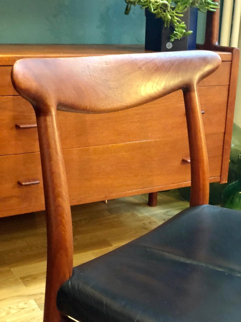 Danish Pair of Hans Wegner Model W2 Chairs for C.M. Madsens For Sale