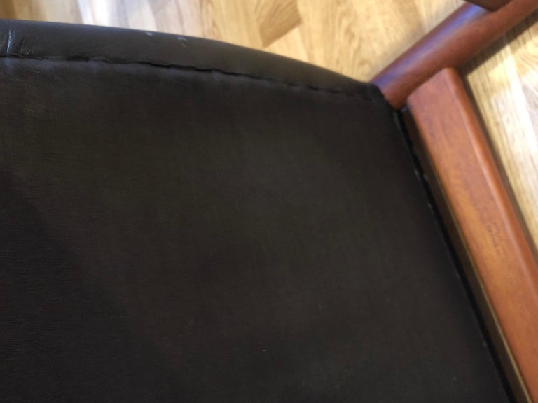 Leather Pair of Hans Wegner Model W2 Chairs for C.M. Madsens For Sale
