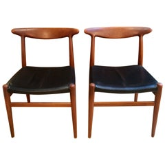 Pair of Hans Wegner Model W2 Chairs for C.M. Madsens