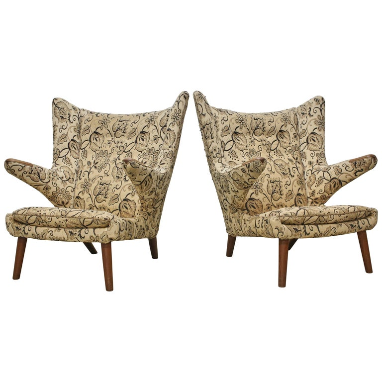 Outstanding Pair Of Hans Wegner Papa Bear Chairs Ap Stolen Denmark 1960S For Recovering Ibusinesslaw Wood Chair Design Ideas Ibusinesslaworg