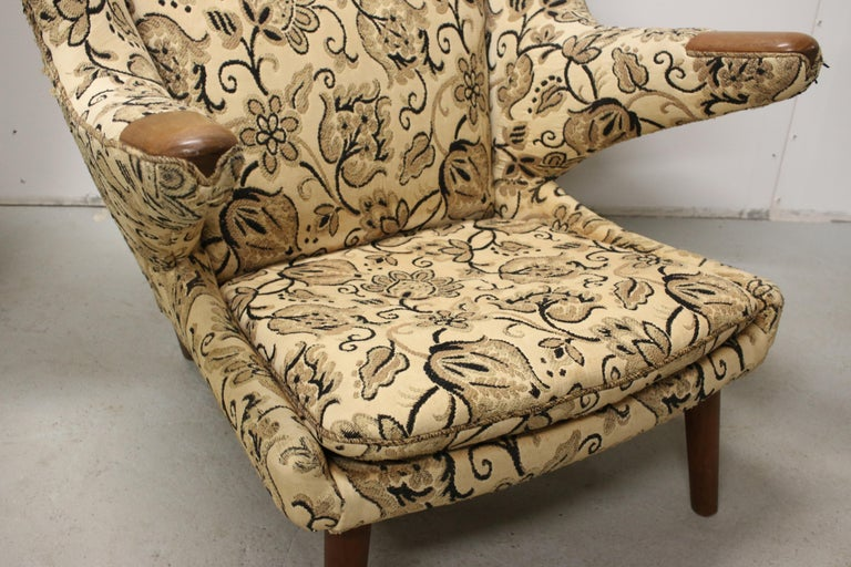Hans Wegner Papa Bear Chairs, AP Stolen, Denmark, 1950s for Re-Upholstery, Pair For Sale 6