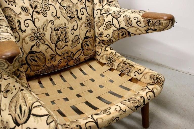 Hans Wegner Papa Bear Chairs, AP Stolen, Denmark, 1950s for Re-Upholstery, Pair For Sale 7