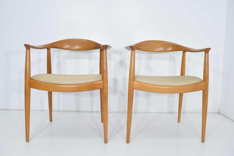 "The most recognized of Hans Wegner's chairs, the round back or ""The Chair"" was designed in 1948. Exquisitely constructed by cabinetmaker Johannes Hansen. This chair was made famous in the US when the chair was used during the Nixon/ Kennedy debate,"