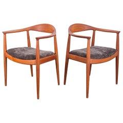Pair of Hans Wegner Round Chairs