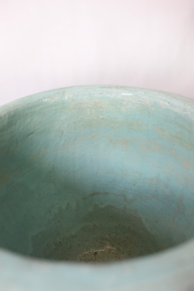 Mid-Century Modern Pair of Turquoise Glazed Pottery Planters by Harding Black, 1960