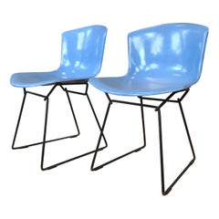 Pair of Harry Bertoia Molded Shell Side Chairs for Knoll, circa 1960s