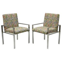 Pair of Harvey Probber Attributed Aluminum Lounge Armchairs, Mid-Century Modern