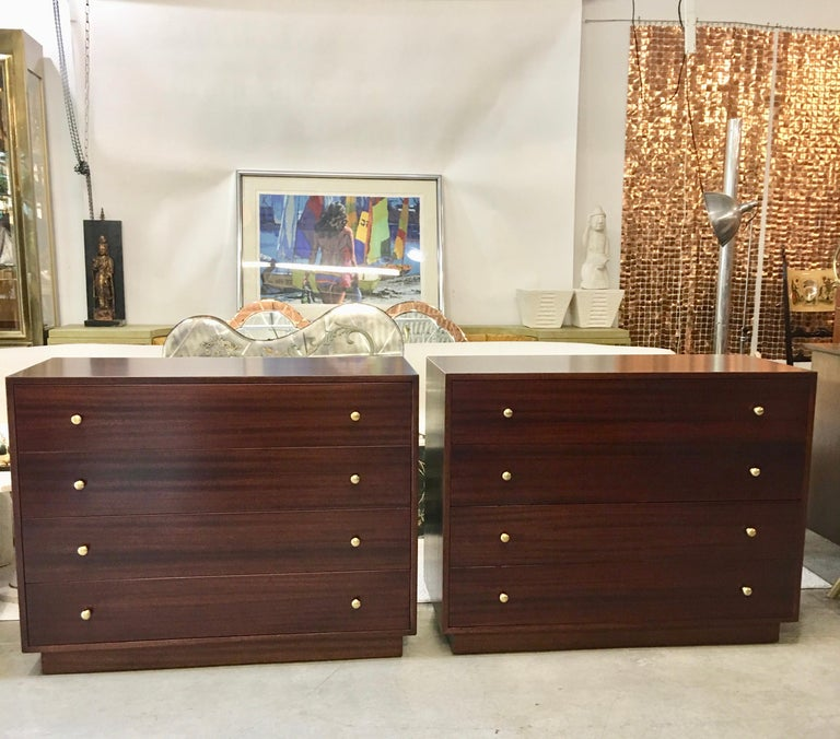 Mid-Century Modern Pair of Harvey Probber Chests of Drawers For Sale