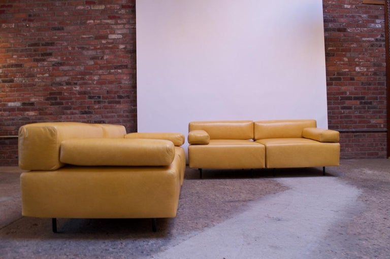 Pair of two-seat sofas designed by Harvey Probber for his