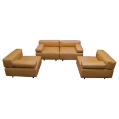 "Pair of Harvey Probber ""Cubo"" Leather Sofas"