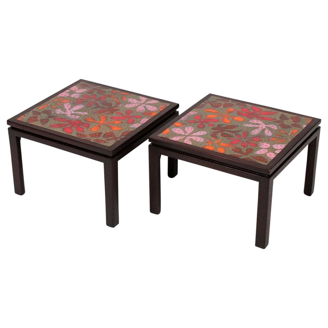 Pair of Harvey Probber Flower Side Tables