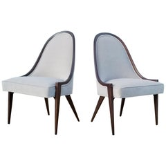Pair of Harvey Probber Gondola Chairs