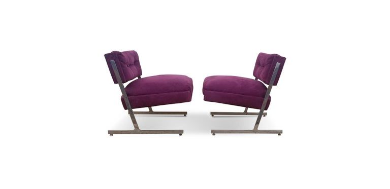 Pair of Harvey Probber Lounge Chairs For Sale 3